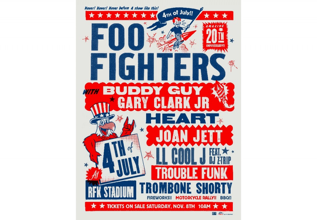 Foo Fighters: 20 Years of Posters - Threadless Blog