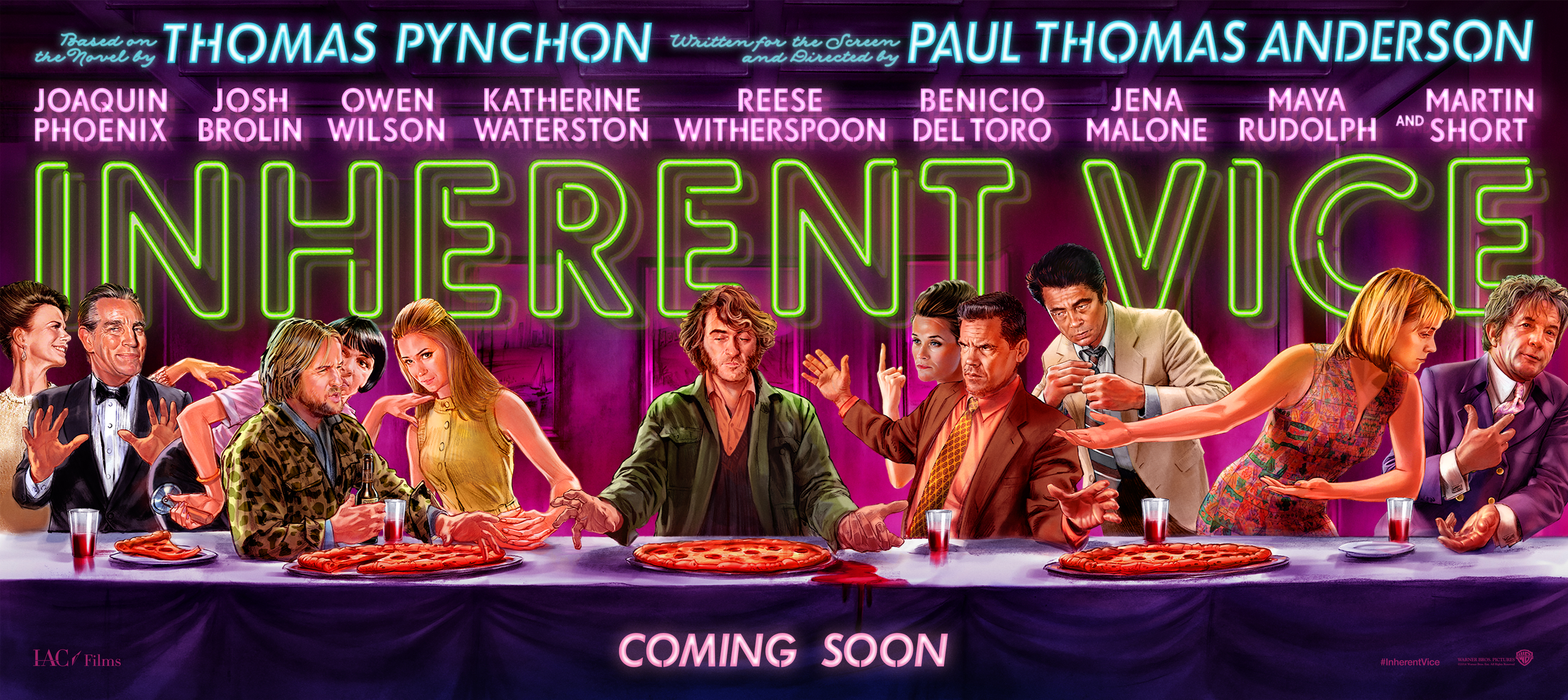 Inherent Vice Movie Poster (2014) .  Image courtesy of http://imgs.littlewhitelies.co.uk/