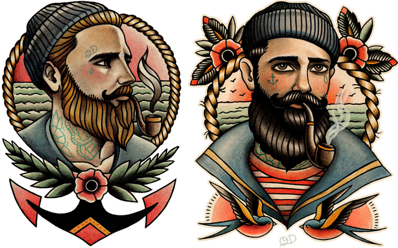 tumblr profile pictures ideas - Meet Parlor Tattoo Prints Quyen Dinh Threadless Blog