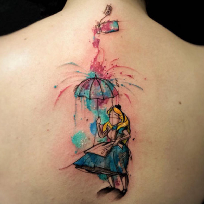 Check out these awesome alice in wonderland tattoos for Small alice in wonderland tattoos