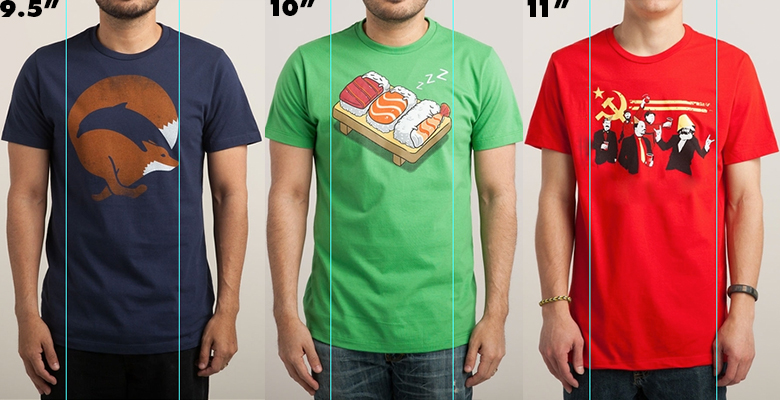 Design Size And Placement Apparel Threadless Artist Shops