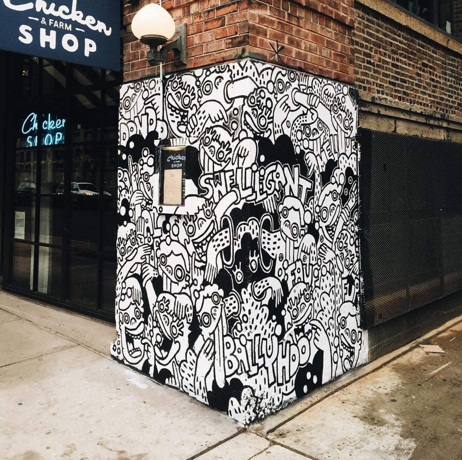 new year new monthly murals at soho house chicago threadless blog 40owls fortoul brothers completed mural done in the dead of chicago winter