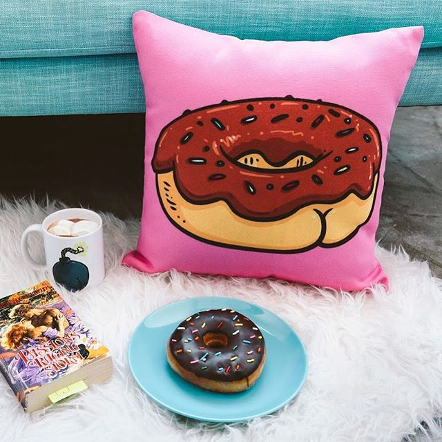Brian Cook donut butt pillow lifestyle image