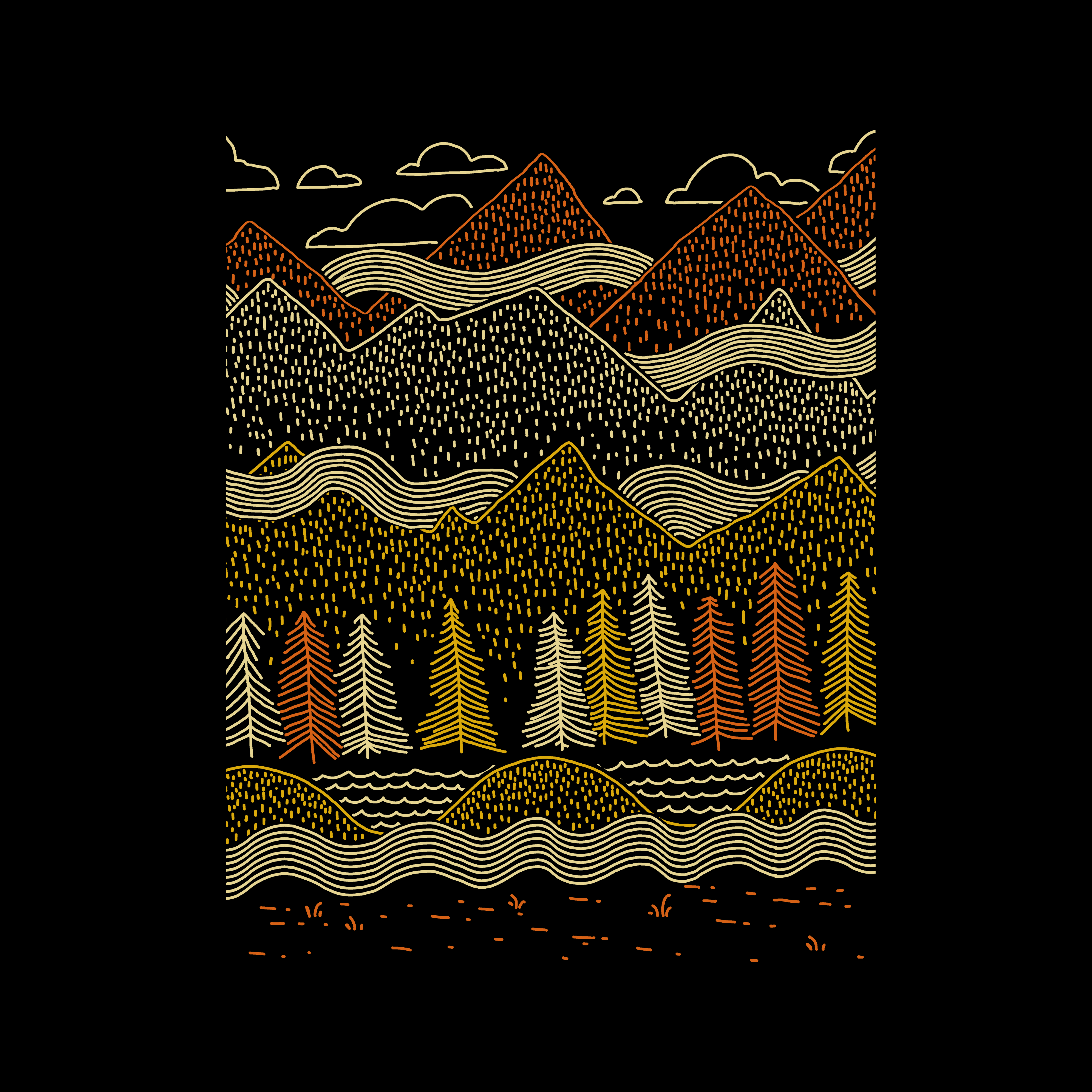 Most popular designs of April - Misty Mountains