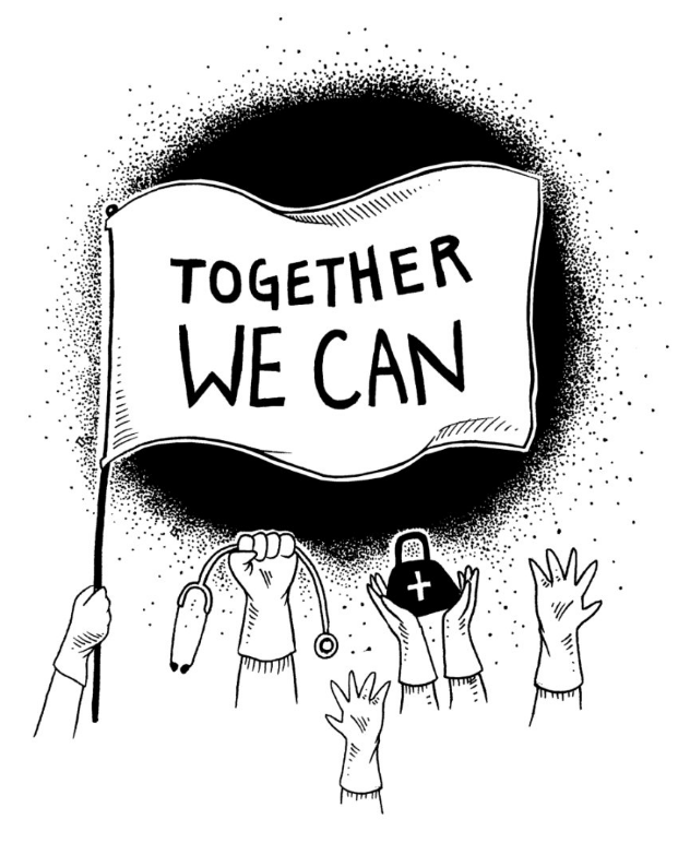 Together We Can in Colin Donnell's Artist Shop