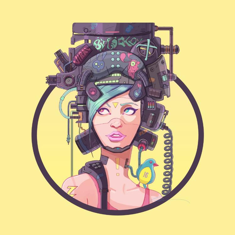 Bit Jockey design from the Neon Wasteland Artist Shop