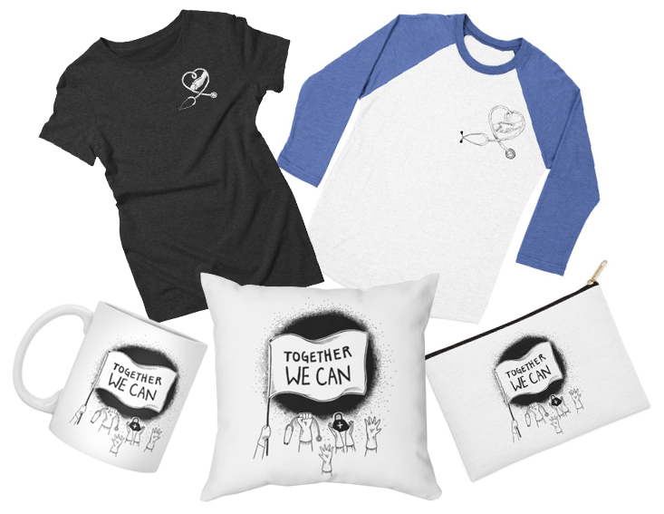A few products in Colin Donnell's Artist Shop