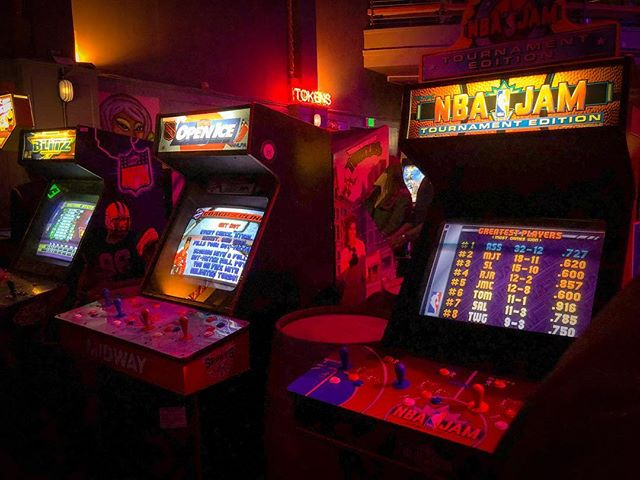 Arcade games from the Insert Coin Instagram