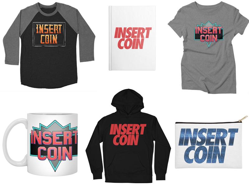 Insert Coin Artist Shop designs