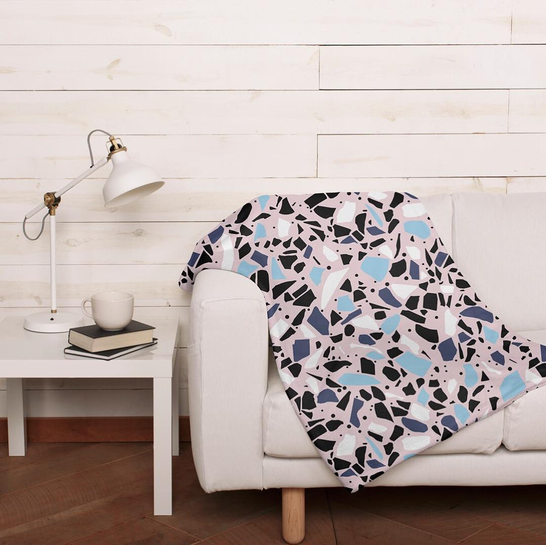 Terrazo throw blanket lifestyle image