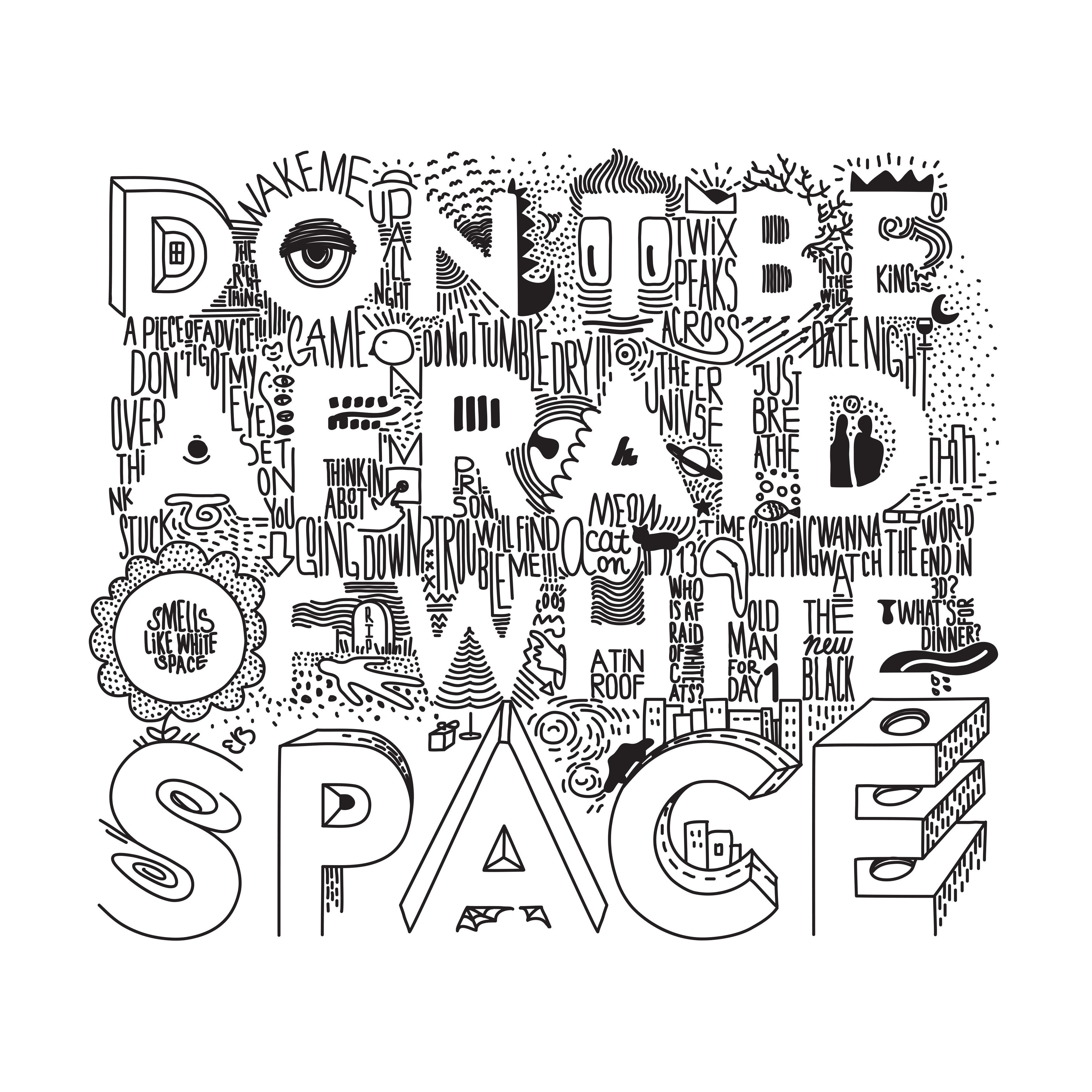 Making it as an artist - don't be afraid of white space design
