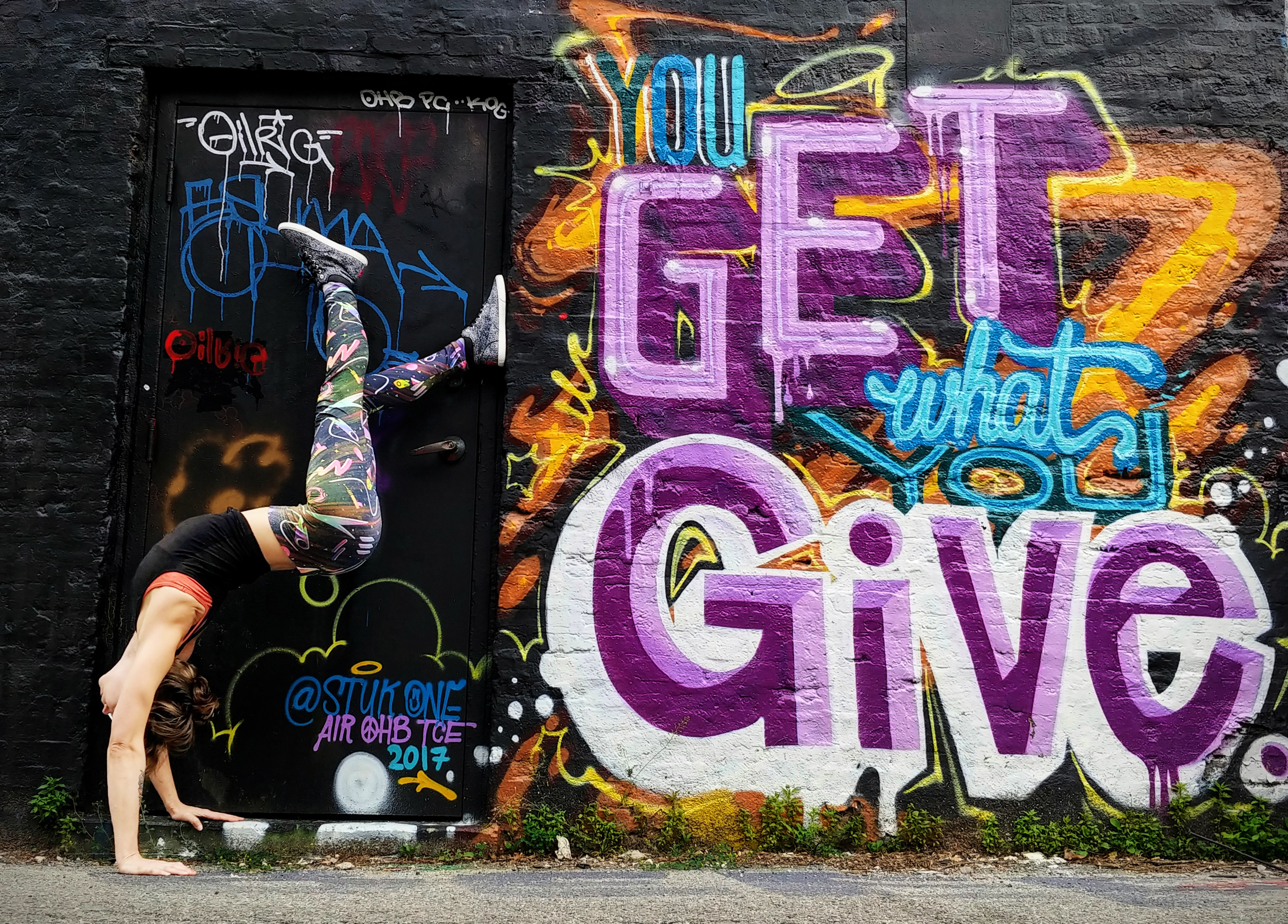 Yoga and murals - moon patrol