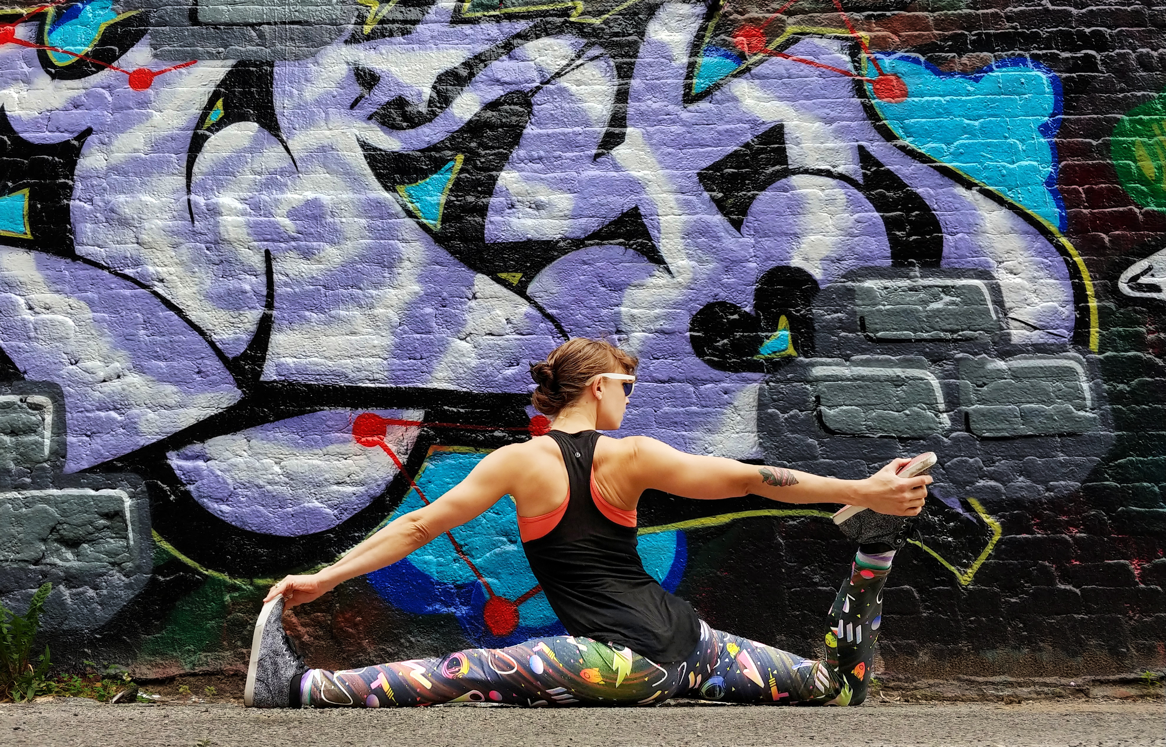 Yoga and murals - sprite soren purple mural