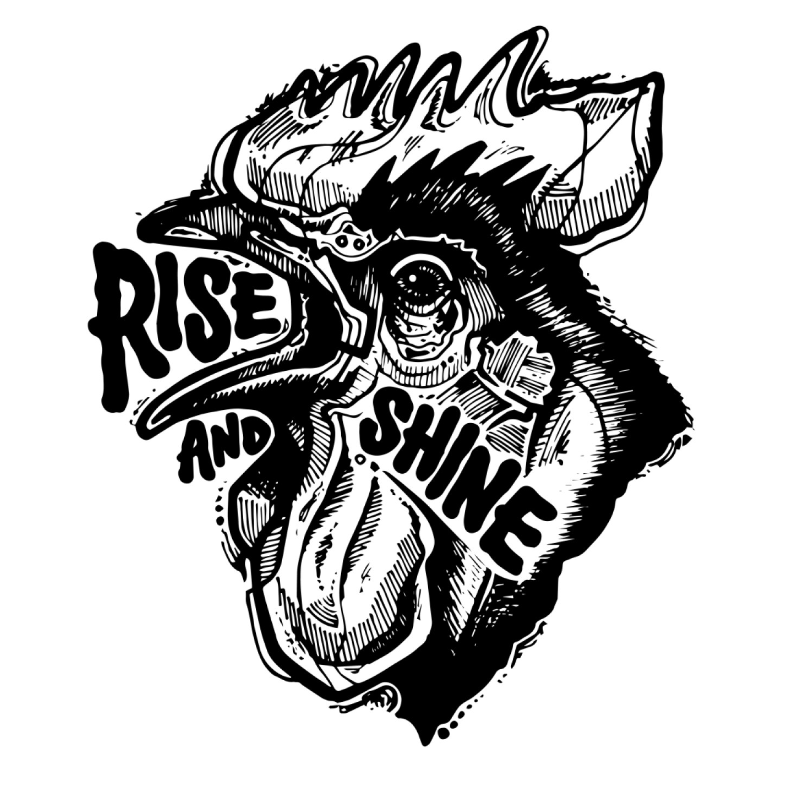 Juanita Garcia tattoo style - dark rooster