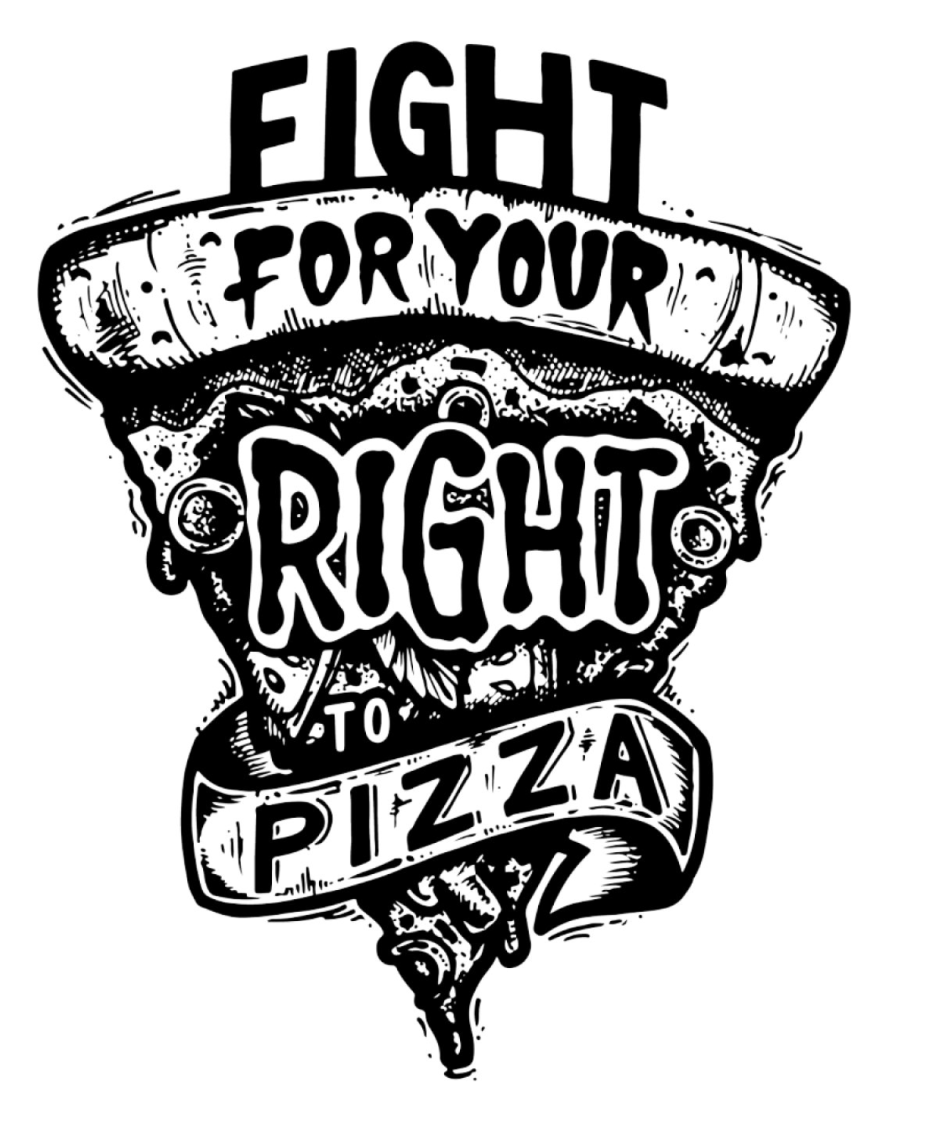 Juanita Garcia tattoo style - fight for pizza