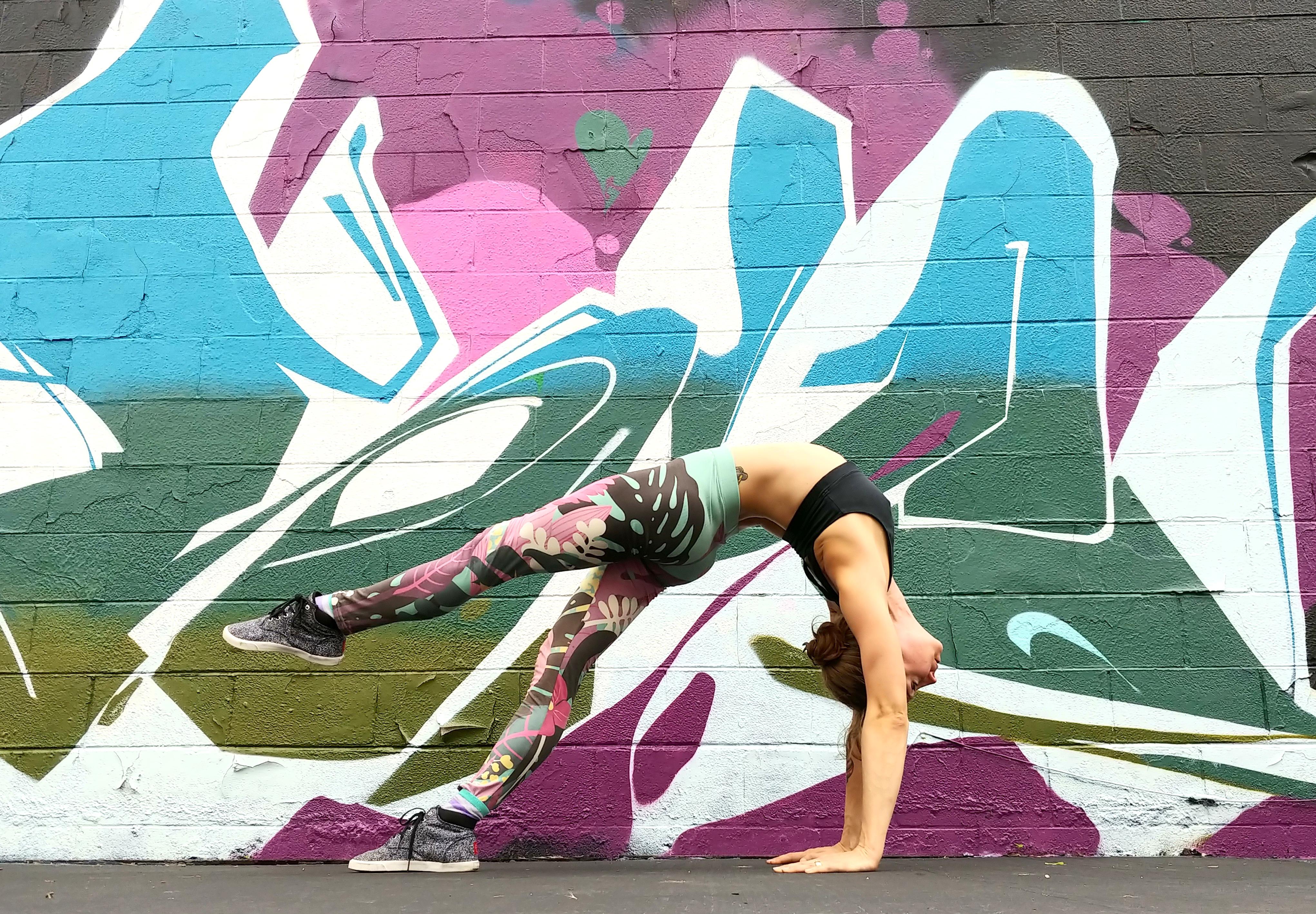 Yoga and murals - tropical tendencies