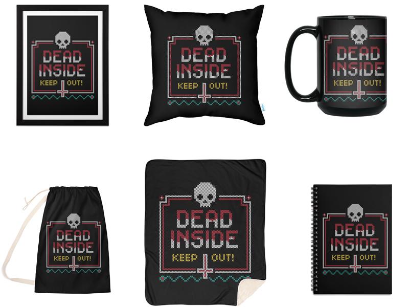"""Curse Stitch"" Cross Stitch design on products."