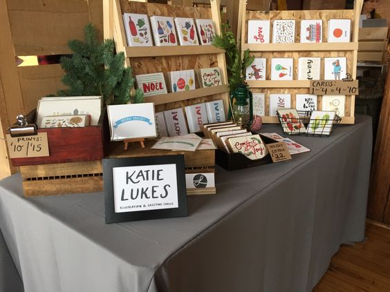 Katie's booth at Renegade Fair