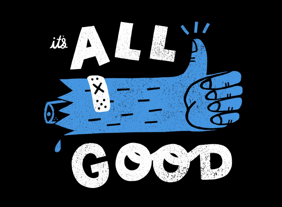"Katie's ""It's All Good"" design"