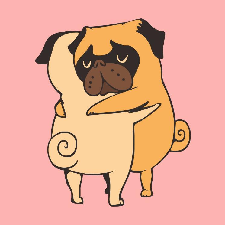 Dog designs - Pug Hugs