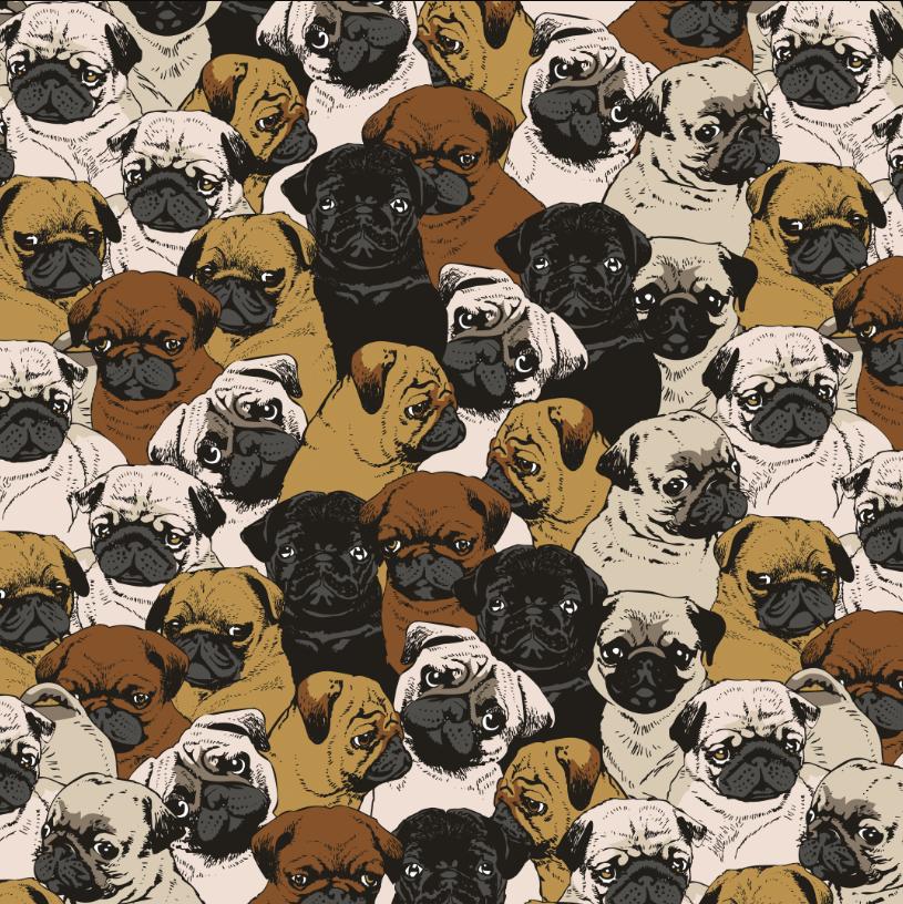Dog designs - Social Pugs