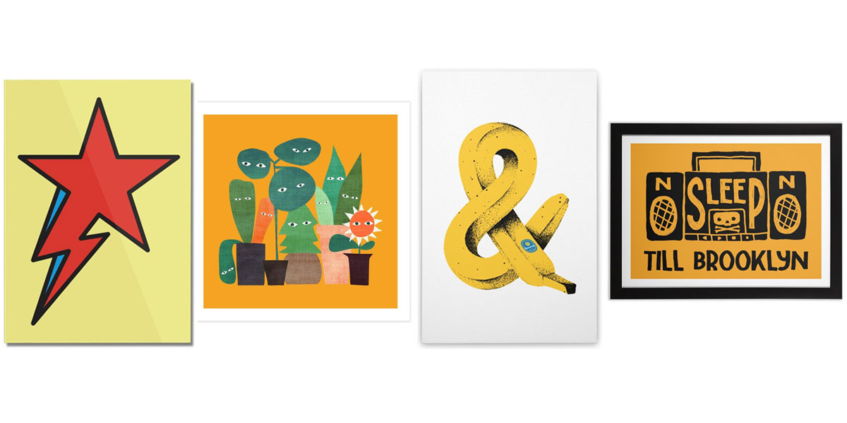 Yellow colored art prints