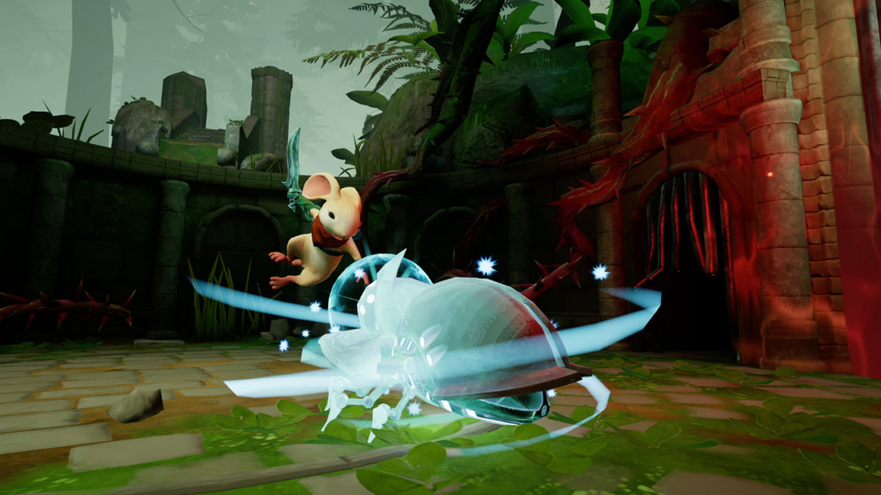Quill the mouse, character in the VR game Moss