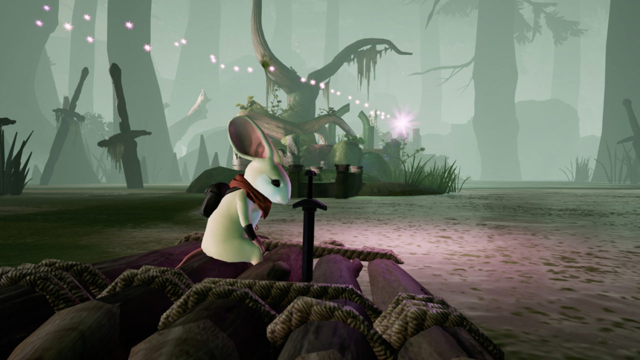 Environment in Moss VR game