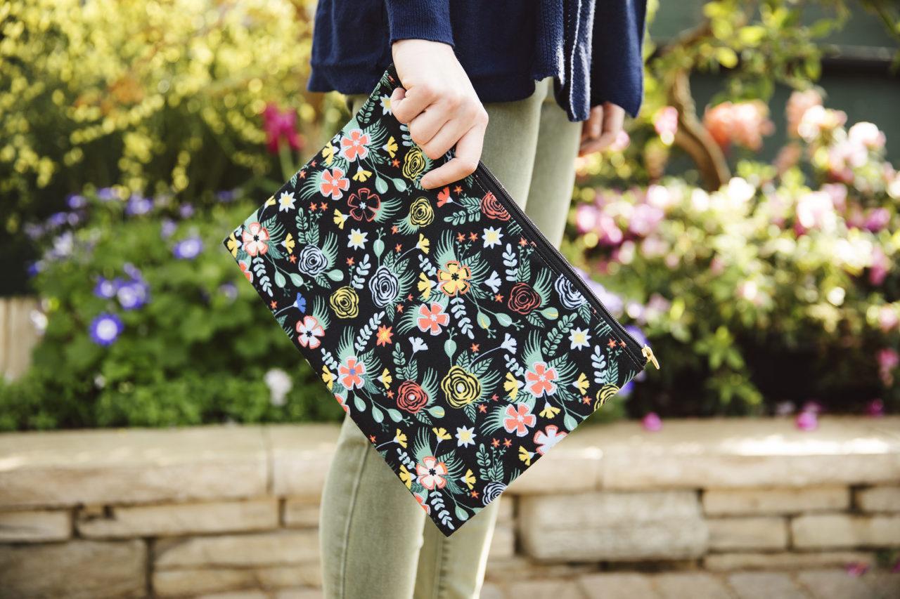 Flower Bucket Zip Pouch