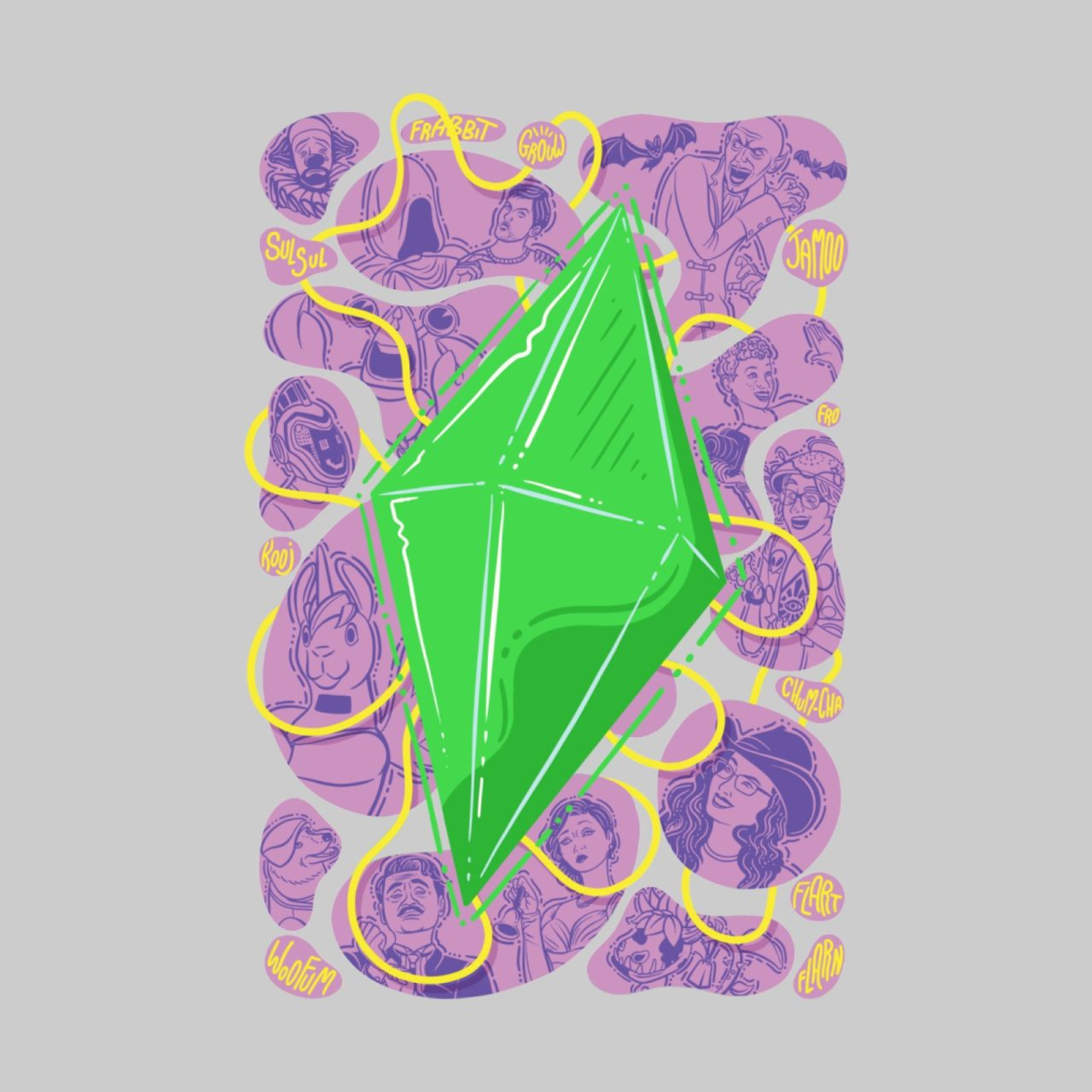 Funky plumbob from The Sims