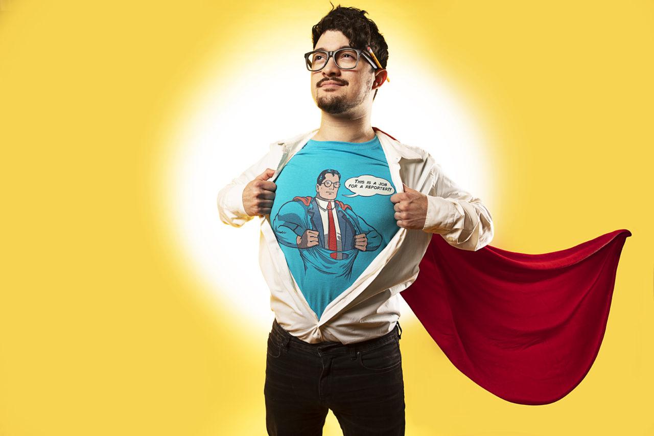 """""""Super Reporter"""" Men's Regular T-Shirt by spike00"""
