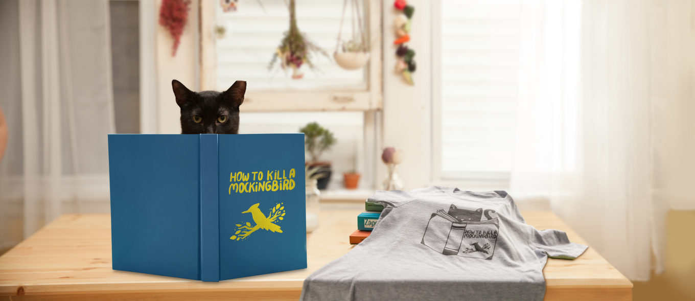 How to Kill A Mockingbird Cat T-shirt