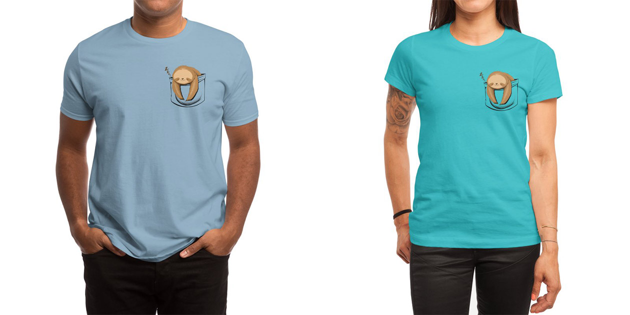 """""""Sloth in a Pocket"""" Men's Shirt and Women's Shirt by Tobe Fonseca"""