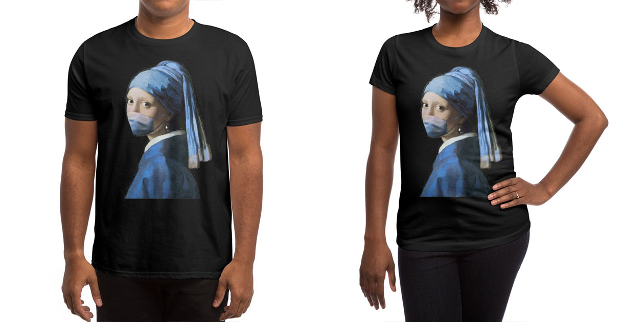 """""""Girl with COVID-19"""" Men's Shirt and Women's Shirt by Thomas Orrow"""
