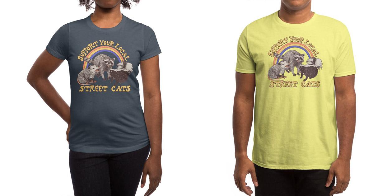 """Street Cats"" Women's Shirt and Men's Shirt by Hillary White"