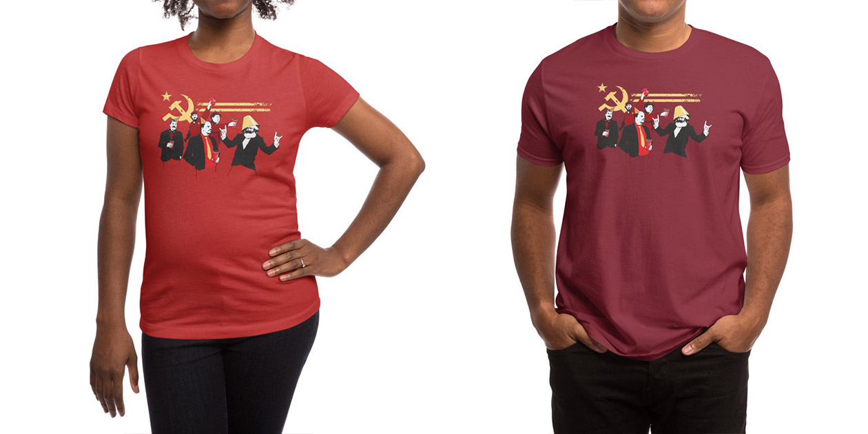 """""""The Communist Party"""" Women's Shirt and Men's Shirt  by Tom Burns"""
