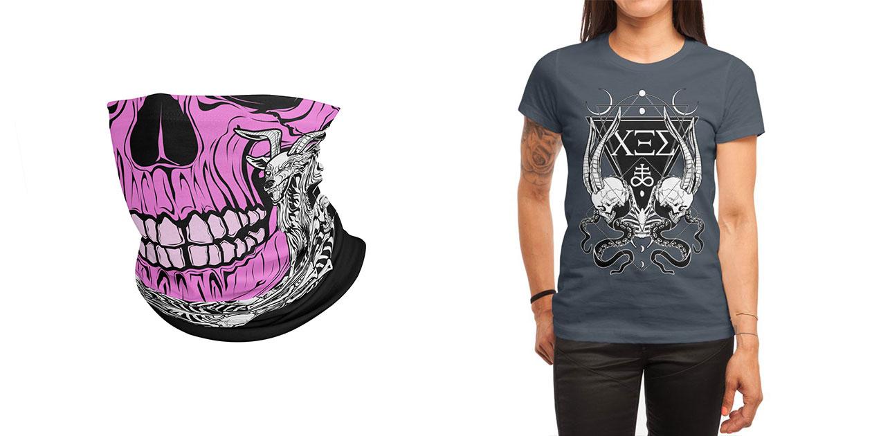 """""""Vukojarac"""" Neck Gaiter and """"ΧΞΣ (666) The Number of the Beast"""" Women's Shirt by von Kowen"""