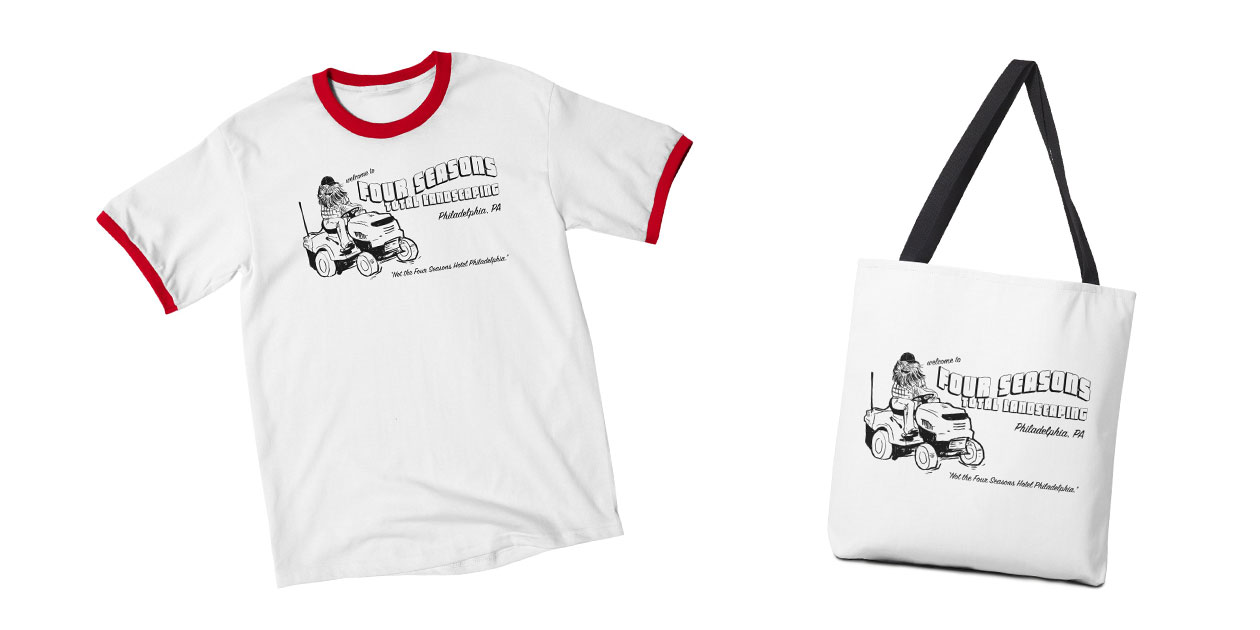 """Four Seasons Total Landscaping"" Men's Ringer T-Shirt and Tote Bag by Shop Class"