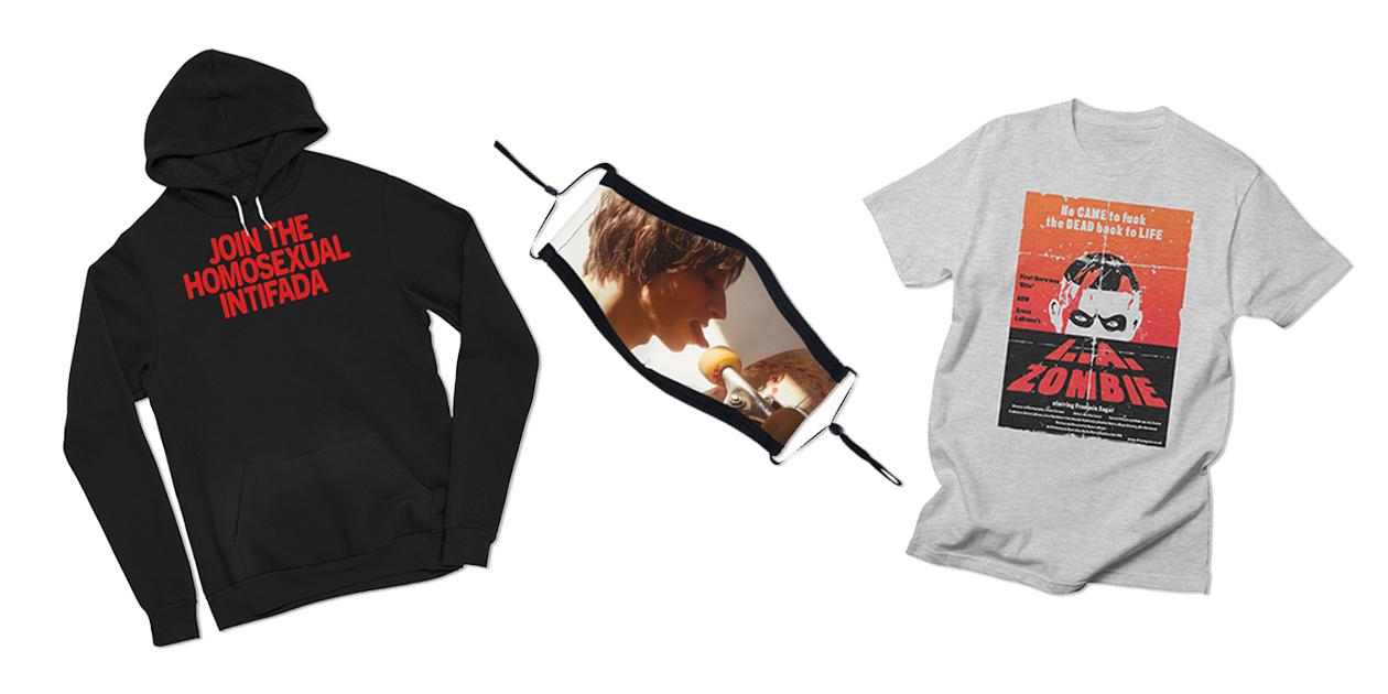 """Join the Homosexual Intifada"" Men's Sponge Fleece Hoodie, ""SkateMask"" Ultra Premium Face Mask, and ""L.A. Zombie Poster"" Men's Regular T-Shirt by Bruce LaBruce"