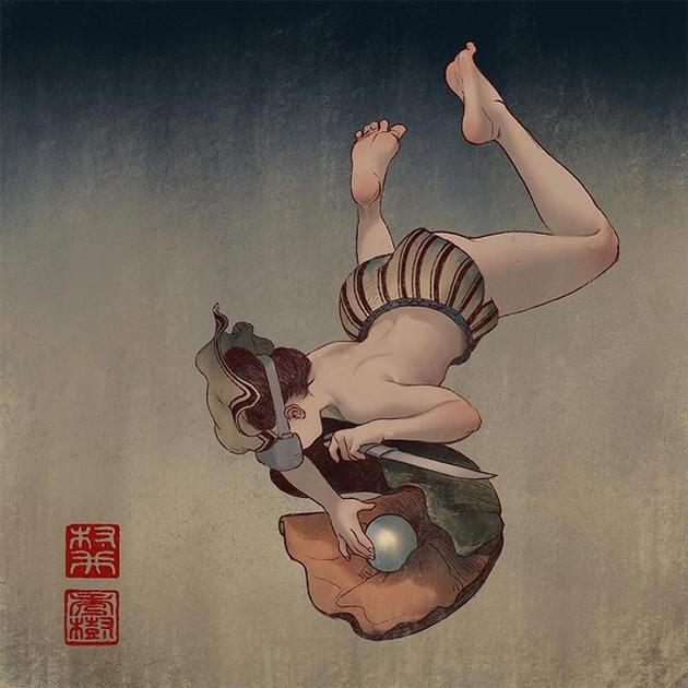"""""""Okinawan Mermaid"""" by Will Murai"""