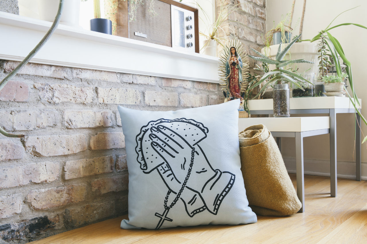 """Tacos Al Pastor"" Throw Pillow by MrChillustrator"