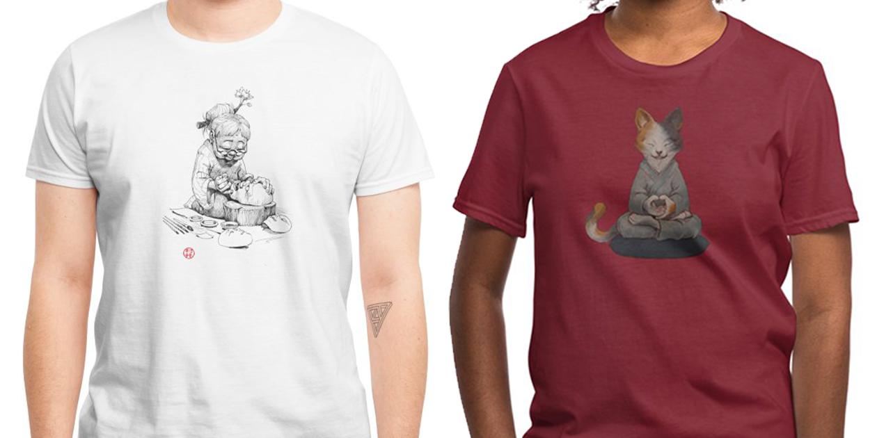 """""""Beauty"""" Men's Regular T-Shirt and """"Zennekko"""" Regular Unisex T-Shirt by Will Murai"""