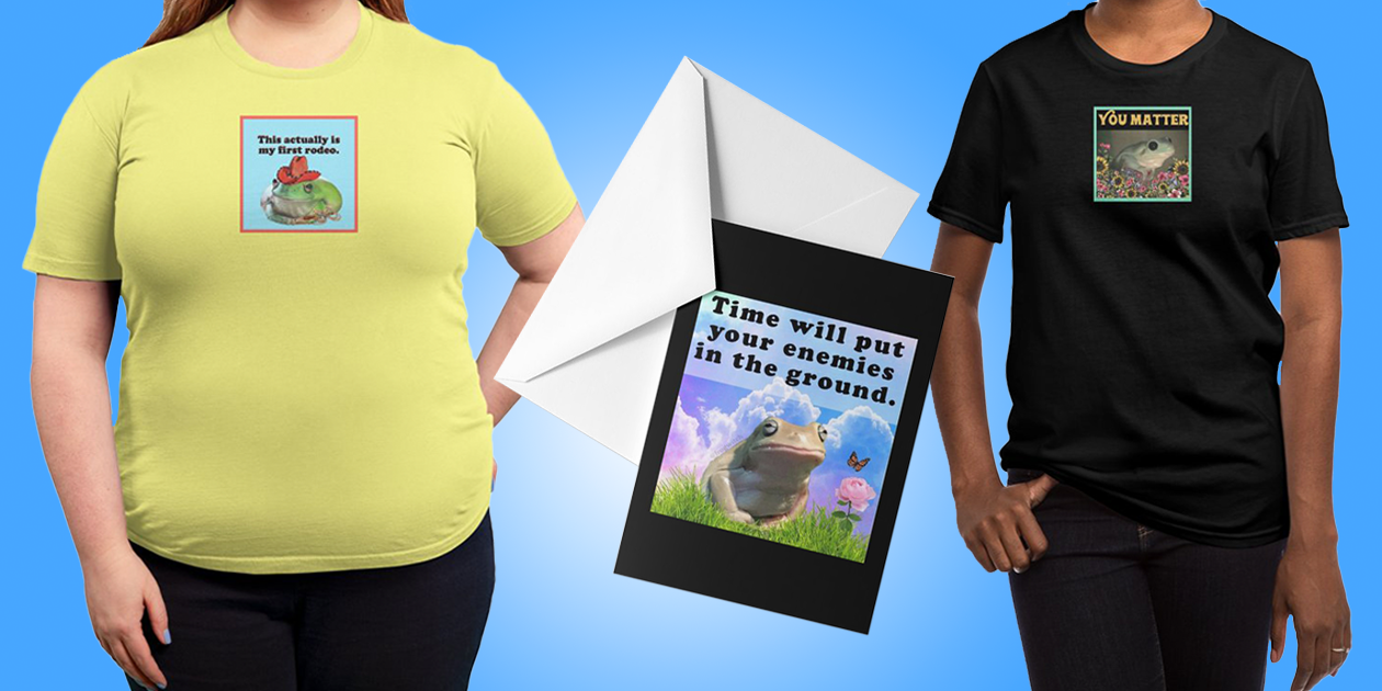 """""""1st Rodeo"""" Regular Unisex T-Shirt, """"Time Will Put Your Enemies in the Ground"""" Greeting Cards, and """"You Matter"""" Regular Unisex T-Shirt by Frog Witch"""