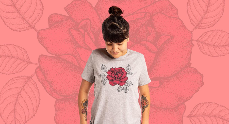 Rose v1 t-shirt by artist, Kaster