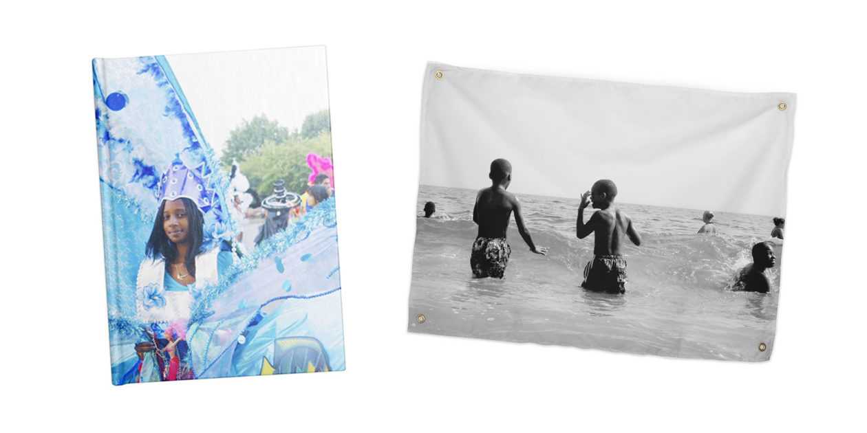 """""""Queens, New York"""" Notebook and """"Black Boy Joy"""" Tapestry by T.Woods"""