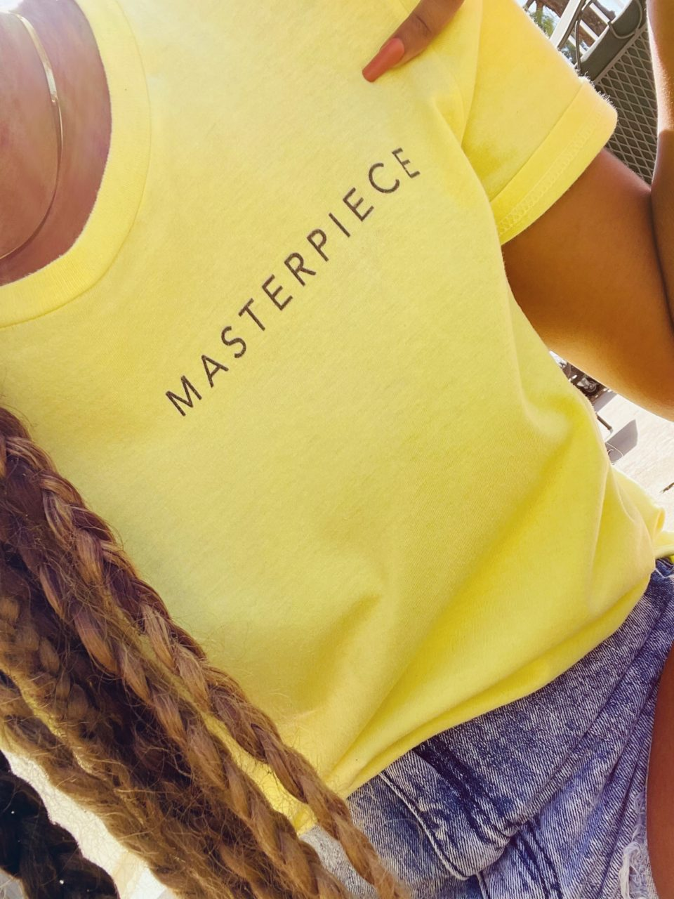 """T.Woods wearing """"Masterpiece, Just as You Are"""""""