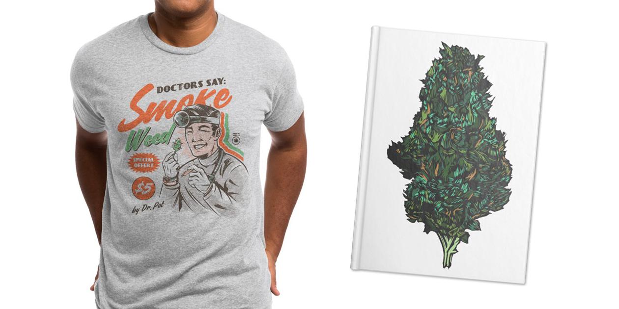 """Medical Advice"" Men's Triblend T-Shirt by Ilustrata and ""Dank"" Notebook by DaNkJiMz"