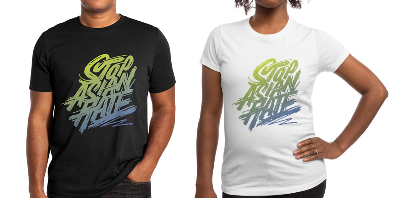 """""""Stop Asian Hate"""" Men's Extra Soft T-Shirt and Women's Fitted T-Shirt by typeofguy"""