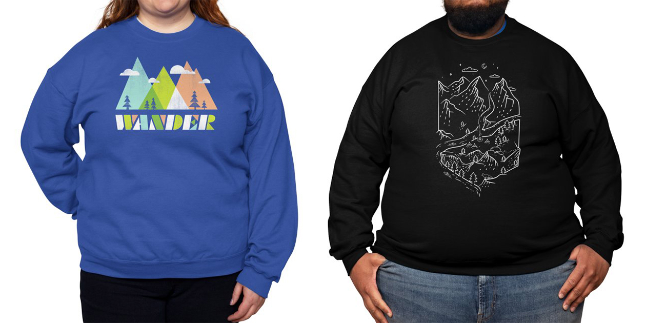 Classic Fleece Sweatshirt (Available in Sizes Up to 5XL)