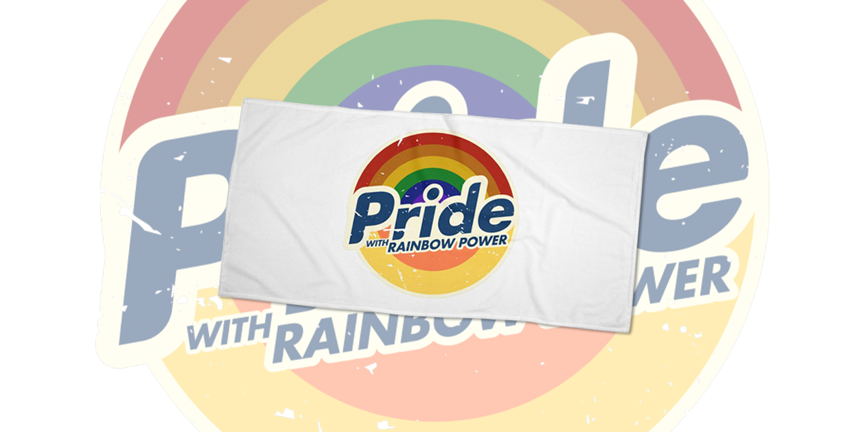 """""""Pride's In, Bigots Out"""" Beach Towel by bvrdto benefits the It Gets Better Project."""